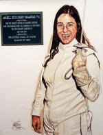 Pictured here in 1974, Dr. Shapiro was the top women's fencer in Brandeis University history.